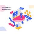 social media ambassador isometric modern flat vector image vector image