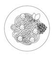 spaghetti dish icon vector image vector image