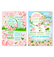 spring holiday promo sale flowers posters vector image vector image
