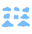 stitch blue clouds set vector image vector image