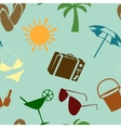 Summer and beach seamless pattern vector | Price: 1 Credit (USD $1)