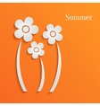Summer flowers background vector image vector image