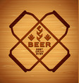 template with beer cans vector image vector image