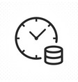 time is money icon vector image