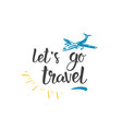traveling quote hand drawn icon world tour vector image vector image