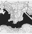 urban city map hong kong poster grayscale vector image