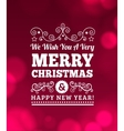 Vintage Merry Christmas Background vector image vector image