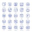 web design icons set vector image vector image
