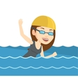 Woman swimming vector image vector image