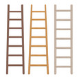 wooden ladder set vector image