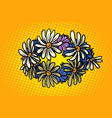 wreath wild flowers chamomile vector image