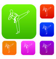 wushu master set collection vector image vector image