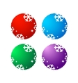 set of sale labels with snowflake vector image