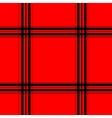 Red tartan seamless pattern vector image