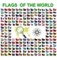 Set of Flags of world sovereign states vector image