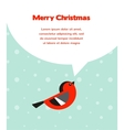 Christmas background with bird speech bubbles vector image