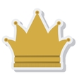 crown queen isolated icon vector image
