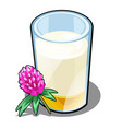 a glass of milk and honey made from clover vector image