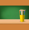 back to school 3d realistic green vector image vector image