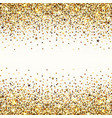 background gold sequins vector image