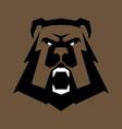 bear head sports logo great for sports logotypes