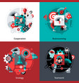 Brainstorming And Teamwork Set vector image vector image