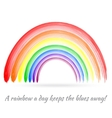 Bright Brush Painted Rainbow vector image