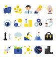 business b2b symbols in flat style icons of vector image vector image