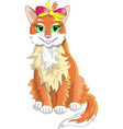 cat red vector image vector image