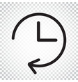 clock icon flat clock pictogram simple business vector image vector image