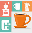 coffee cup fresh aroma poster vector image