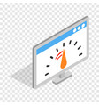 computer monitor with speed test isometric icon vector image