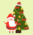 congratulations santa claus wishing merry xmas vector image