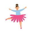 cute little girl in tutu skirt dancing flat vector image vector image