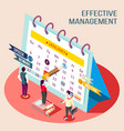 effective management calendar concept vector image vector image