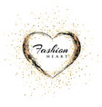 fashion emblem heart shape frame makeup mascara vector image vector image
