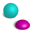 fitball in 3d isometric style vector image vector image