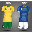Football soccer jersey vector image vector image