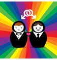 Gay Couple Married Doll vector image vector image