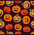 Halloween pumpkin seamless pattern background for