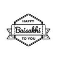 Happy Baisakhi holiday greeting emblem vector image