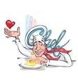 Happy Cook Cook Italian Cuisine vector image vector image