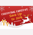 horizontal christmas sale banner cut paper vector image