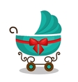 icon baby carriage green design vector image vector image