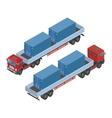 isometric truck parking in the street available vector image