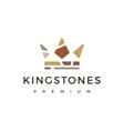 king crown stone stones logo icon vector image vector image