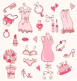 Lady dreams graphic set vector | Price: 3 Credits (USD $3)