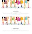 legs shopping vector image vector image