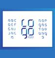 logo alphabet letters vector image
