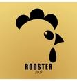 Logo head cartoon cock vector image vector image